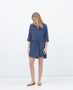 Image 1 of TUNIC WITH SHIRT-STYLE COLLAR from Zara