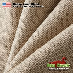 Wholesale Distributors of Made in the USA Preshrunk Cotton Linen Blend Fabric for Upholstery and Drapery Home Decor in Sand Natural Beige Linen Upholstery Fabric, Drapery Fabric, Discount Furniture Stores, Linens And More, Furniture Movers, Cheap Furniture, Slipcovers, Cotton Linen, Light Colors