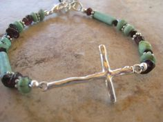 Inspirational Sterling Silver Sideways Cross by deziningems