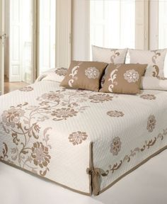 Silk Allure Fawn Tailored Oversized Quilted Bedspread Bedding ... : fitted quilted bedspreads - Adamdwight.com