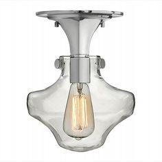 3150CM - Congress 9-inch Chrome 1-Light Semi-Flush Mount with Clear Glass by Hinkley Lighting