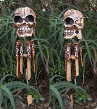 Pirate Skull Skeleton Bambo Wind Chime Day of the dead Voodoo Decor 22 long Spooky Halloween, Halloween Items, Diy Halloween Decorations, Holidays Halloween, Halloween Tricks, Disney Halloween, Halloween 2020, Voodoo Party, Swamp Theme