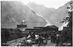 Møre og Romsdal fylke Stranda kommune Geiranger Merok turistskyss med hest. Utg C. A. Erichsen tidlig 1900-tall