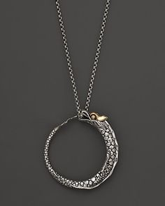 Gold and Sterling Silver Dragon Pendant Necklace by John Hardy Naga