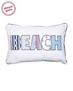 14x27+Beach+Applique+Pillow