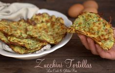 "Zucchini Tortillas 4 cups zucchini, grated ½ teaspoon fine grain sea salt 1 large egg 4 ounces grated sharp cheddar or Parmesan cheese (about 1 cup) 1 tablespoon coconut flour 2 teaspoons ""Healthified"" Taco Seasoning"
