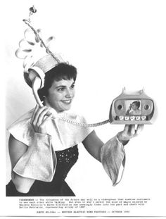 Bell Telephone videophone concept ad. (1963)