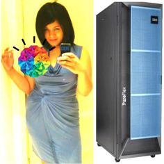 Me and my beautiful product. The IBM PureSystems Expert Integrated System.