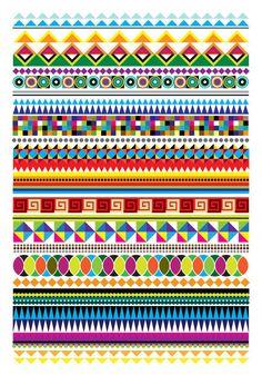 by mwm graphics Pretty Designs, Pretty Patterns, Bead Patterns, Geometric Designs, Geometric Shapes, Pattern Art, Pattern Design, Skull Decor, Pretty Wallpapers