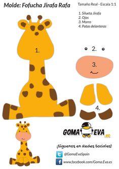 Baby Shower Ides Safari Giraffes 46 Ideas For 2019 Jungle Theme Birthday, Jungle Party, Safari Party, Felt Animal Patterns, Stuffed Animal Patterns, Foam Crafts, Paper Crafts, Marianne Design, Animal Crafts