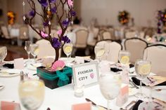 Tables named after Pokémon cities!