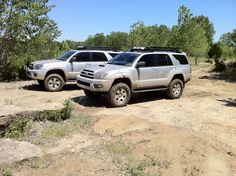 silver with fj's and duratracs 4th Gen 4runner, Four Runner, Toyota Girl, Toyota 4runner, Offroad, Dream Cars, 4x4, Surfing, David