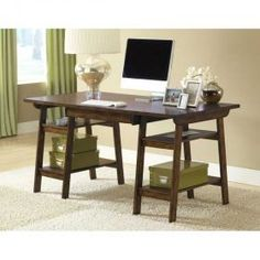 Possibility: desk with baskets for bonus room