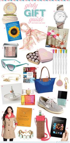 Girly Gift Guide: Mother's Day. #gifts #mothersday #giftguide