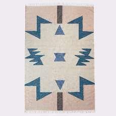 Kelim Rug - Blue Triangles - Large