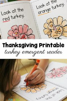 An awesome Thanksgiving literacy activity - snag the FREE printable for a Thanksgiving emergent reader! Kids will work on color recognition and early literacy skills with this fun fall printable. Thanksgiving Emergent Reader Free, Thanksgiving Books, Free Thanksgiving Printables, Thanksgiving Preschool, Emergent Readers, All About Me Preschool, Free Preschool, Early Learning Activities, Preschool Activities