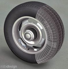Michelin Chevrolet Rally Wheel 3D model/rendering created by Richard Brehm using TurboCAD Pro.