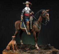 Sculptor: Maurizio Bruno for Romeo Models Painter: Pepe Gallardo Scale: 54 mm 17th Century Clothing, Thirty Years' War, Military Figures, Virtual Museum, Miniature Figurines, Sculpture, Warfare, Renaissance, Cavalier
