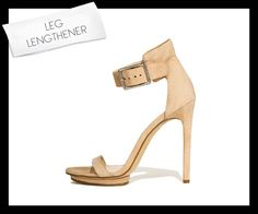 Calvin Klein Vivian ankle-strap sandal @calvinklein.com.  Vogue correctly called it a leg lengthener. @vogue.com.