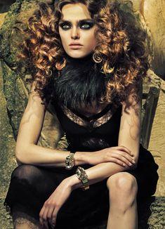 Sophie Vlaming Is Black 'Femme Fatale' in Costas Avgoulis' Elle Germany December 2012 SensualDrama