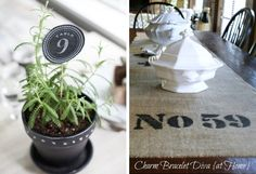 15 DIY Wedding Table Numbers | SouthBound Bride | http://www.southboundbride.com/15-diy-table-number-ideas | Credits: Lia Griffith // Charm Bracelet Diva