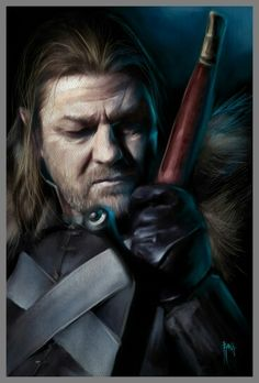 Lord Eddard Stark by gerky-art on DeviantArt Lord Eddard Stark, Game Of Thrones Illustrations, Ned Stark, Game Of Thrones Tv, Corel Painter, House Stark, Deviantart, Fire, Swings