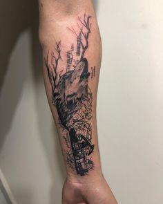 #kurt #wolftattoo Watercolor Tattoo, Skull, Tattoos, Tatuajes, Tattoo, Temp Tattoo, Tattos, Skulls, Sugar Skull