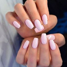 30 Most Gorgeous Light Pink Nails Idea for Prom and Wedding in Fall and Winter . 30 Most Gorgeous Light Pink Nails Idea for Prom and Wedding in Fall and Winter 💋 - Page 2 of 31 - Trendy Nails - Barbie Pink Nails, Pastel Pink Nails, Hot Pink Nails, Light Pink Nails, Manicure E Pedicure, Opi Pink, Pale Pink, Pink Light, Bright Pink