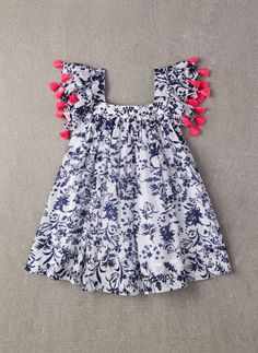 Nellystella Chloe Dress in Floral Motif - PRE-ORDER – Hello Alyss - Designer Children's Fashion Boutique