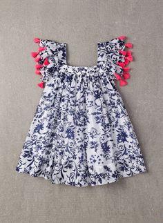 Nellystella Chloe Dress in Floral Motif - PRE-ORDER – Hello Alyss - Designer Children's Fashion Boutique