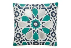 Kaleidescope 20x20 Pillow, Blue on OneKingsLane.com