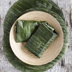 Banana leaf wrapping 101. The thick greens are a convenient and tasty way to infuse grassy flavor notes into dishes — from steamed fish, to tamales and custards — while helping foods retaining their moisture, color and shape.