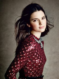 Kendall Jenner wearing Lana Jewelry in Vogue.