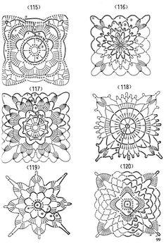 Luty Artes Crochet: Gráficos de motivos de crochê.
