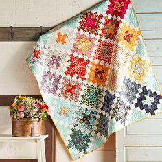 Tree House Chimney Sweep Quilt from Tula Pink's Moon Shine collection
