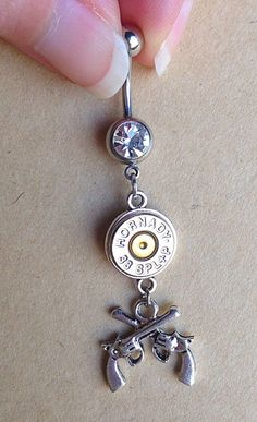 Belly Button Navel Ring Dangle Farm Country Themed