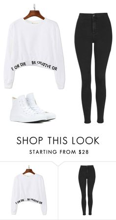 """Без названия #475"" by mariami-princess2013 ❤ liked on Polyvore featuring WithChic, Topshop, Converse, women's clothing, women, female, woman, misses and juniors"