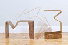 Een simpel bijzettafeltje, dit ontwerp van Isaac Krady: horizontaal lijkt het op een alledaags salontafeltje (weliswaar met inkeping waar u ...
