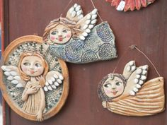 Discover thousands of images about Andílci Christmas Angels, Christmas Crafts, Christmas Ornaments, Paper Clay, Clay Art, Ceramic Pottery, Ceramic Art, Clay Angel, Pottery Angels
