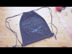 Sewing + Refashion DIY Drawstring Backpack / Gym Bag - YouTube