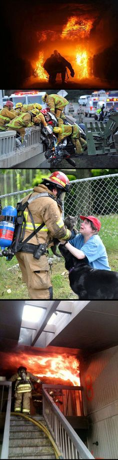 Respect To Our Everyday Heroes - While we cops and firefighters often have a lot of friendly rivalries, these guys are awesome and truly deserve the title, Heroes.