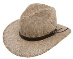 Stetson Seagrass Bayton - Bill the Hatter Seagrass Hat Pinchfront crown 3″ Brim www.billthehatter.com
