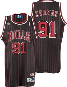 Dennis Rodman Jersey  adidas Black Throwback Swingman  91 Chicago Bulls  Jersey  89.99 ad64e55cc
