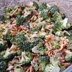 Broccoli Salad for the softball playoffs