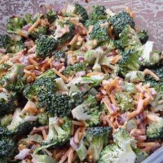 Broccoli Salad for the softball playoffs