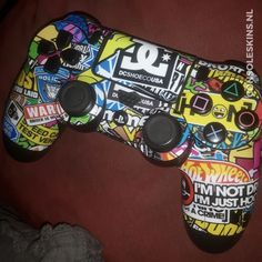 Stickerbomb - PS4 Controller Skins Ps4 Skins, Ps4 Controller, Gaming, Room, Character Ideas, Bedroom, Videogames, Games, Rooms