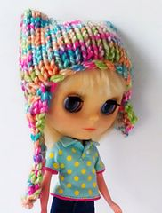 Ravelry: Tutti frutti knitted hat for Blythe dolls pattern by Tracey Marsden