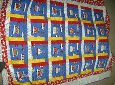 Made this quilt for Grandson number 2: firemen, police and ambulance fabric