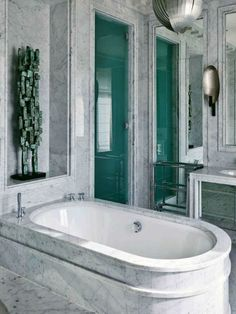 Bathroom done fully with marble! Jean-Louis Deniot