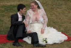 Seeing These Wedding Dresses Will Make You Wish You Were Blind. The Father Doesn't Even Know What To Say.